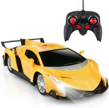 Remote Control Sport Racing Car Yellow Model Vehicle Gift For Kids