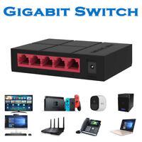 5 Port 10/100/1000Mbps Ethernet Network Switch Lan Hub Ethernet Smart Switcher