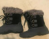 "KHOMBU BOOTS Women's Fox Fur; Size 6 M Synthetic Black 9"""