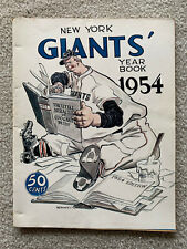 Vintage 1954 New York Giants Official Yearbook