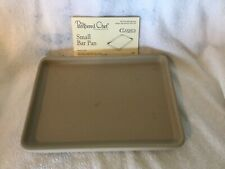 """Pampered Chef Stoneware Small Bar Pan 7"""" X 9.5"""" Toaster Oven Size"""