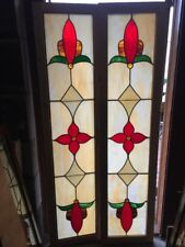 Sg 1522 2 Available Price Separate Stained Glass Jeweled Transom 18.5 X 76