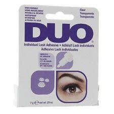 Duo finte individual eyelash adesivo colla trasparente tonalità impermeabile 7g