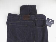 HSM Hart Schaffner Marx Denim Stretch Jeans $115 Dark Rinse w/ Leather Badge