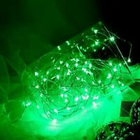 GREEN 100 LED 32ft Fairy String Lights Copper Wires Event Party Perfect Holiday