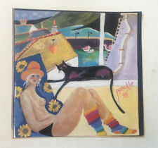 """rare PONCKLE FLETCHER 1934-2012 St Ives """"Self Portrait with Black Cat"""" PRINT"""