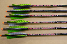 6 Victory Carbon 400 Arrows Custom Fletched w Trad Traditional Feathers Recurve