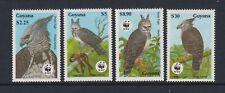 Guyana - 1990, Endangered Espèces, Harpie Aigle, Oiseaux Wwf Ensemble - MNH - Sg