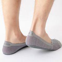 Mens Fashion Cotton Ice Silk Soft Non-Slip Thin Sports Boat Socks Breathable