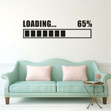 Wall Stickers Vinyl Decal Loading 65% Gamer Gaming Sticker Room Home Art Decor