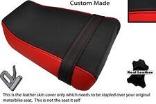 BLACK & RED CUSTOM FITS SUZUKI GSXR GK73A 400 CC REAR LEATHER SEAT COVER