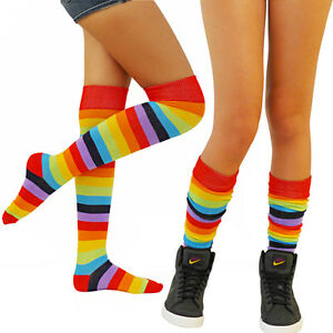 ANGELINA Rainbow THIGH HIGH Socks REGULAR MULTI-COLOR