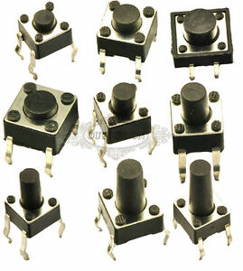 50mA Momentary SPST Tactile Push Button Switch Miniature Micro PCB Mounted DIP