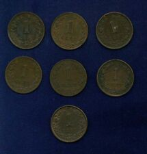 NETHERLANDS  KINGDOM  1 CENT: 1878,1880,1881,1882,1884,
