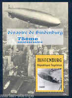 TOGO 75TH ANNIVERSARY OF THE HINDENBURG  DISASTER SOUVENIR SHEET