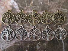 Tree of Life- Lot of 10 Charm Medallions -Wicca/Pagan/Magic/Gothic/New Age