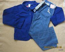 Gymboree Santorini Sweetie Royal Blue Jacket  Belt Denim Pants Jeans 12 Plus NWT