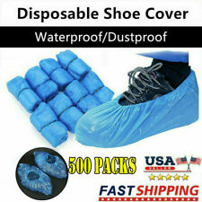 Women Men Disposable Shoe Covers Plastic Overshoes Floor Boot Protector Cover US