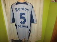 FC Schalke 04 Original Adidas Ausweich Trikot 2005/06 + Nr.5 Bordon Gr.XXL TOP