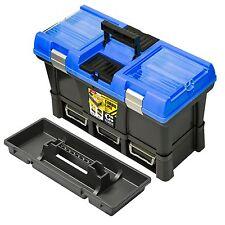 Werkzeugkoffer, Werkzeug-Box, zusätzlich 3 Sichtlagerboxen, 53x33x26 cm, NEU