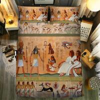 Ancient Egypt Ethnic Customs Design Duvet Quilt Cover Pillow Cases Bedding Set