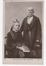 The Late Mr & Mrs Gladstone Vintage RP Postcard Politics 871b
