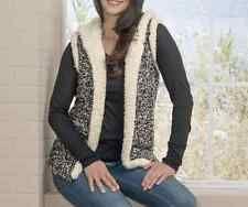 sweater Sparkle Cozy Vest NEW size XL Hooded Seventh Avenue