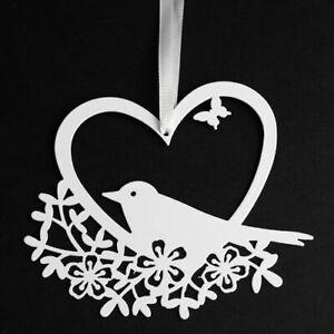 White Metal Love Bird Hanging Wedding Decoration