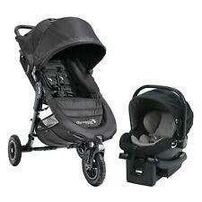 Baby Jogger City Mini GT Travel System Black w/ Baby Stroller & City Go Car Seat