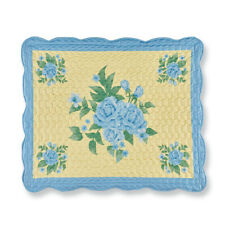 Rosalie Blue Rose Scalloped Border Pillow Sham, by Collections Etc