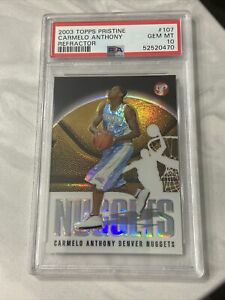 CARMELO ANTHONY PSA 10 2003 TOPPS PRISTINE BASKETBALL 113 ROOKIE REFRACTOR /1999