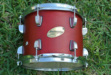"ADD this LUDWIG ACCENT CUSTOM 10"" RED SATIN TOM to YOUR DRUM SET TODAY! #Z198"