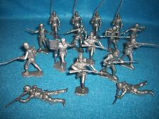 Marx reissue set of 16 Civil War Union soldiers in pewter/silver color plastic