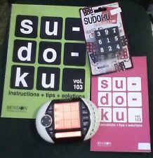 SUDOKU LOT ULTIMATE ELECTRONIC GAME OVER 1 MILLION PUZZLES + PUZZLE CUBE + BOOKS