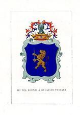 Araldica stemma araldico della famiglia Dei Del Borgo a Buggiano-Toscana
