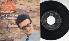 JIMMY FONTANA in SPAGNOLO disco 45 MADE in SPAIN Cielo rojo + Dalila 1968