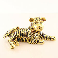 Gold Jaguar Jewelry Trinket Box Decorative Collectible Leopard Animal Gift 02005