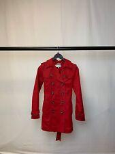 Women's Hobbs 96% Cotton Red Coat Size 8