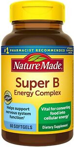 Nature Made Super B Energy Complex Softgels, 60 Count for Metabolic Health...
