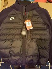 $300 Nike Boys Aeroloft Tech Full Zip Hoodie Jacket Small Medium 717104 010