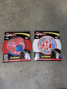 Ultimate Frisbee 175 Sports Disc - Lot of Two Both White & Red  Wham-O