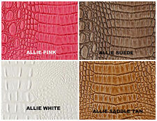Alligator Faux Leather Upholstery Embossed Vinyl in SUEDE  (by the yard)