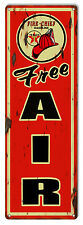 Texaco Free Air Distressed Reproduction Motor Oil Metal  Sign 6×18