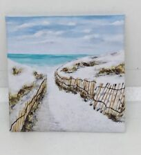 HANDMADE MINIATURE DOLLS HOUSE ACCESSORY CANVAS STYLE WALL ART PICTURE Beach #6