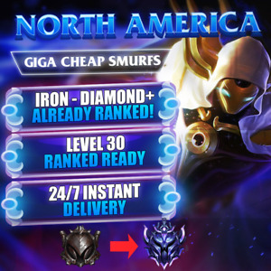 League of Legends NA LOL NA Account Active Ranked Ready Iron-Diamond Champs