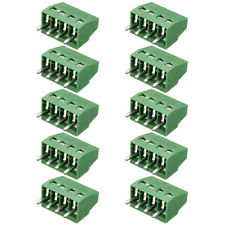 """10x 4 Poles/4 Pin 2.54mm/0.1"""" Pitch PCB Universal Screw Terminal Block Connector"""