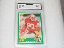 Jerry Rice GRADED CARD!! 1989 Score #221 San Francisco 49ers HOFer! Gem Mint 10!