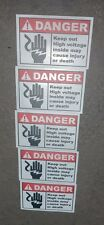 Danger High Voltage Electric Warning Building Sign Sticker Set Of 5 3x2 5