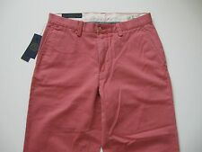 POLO RALPH LAUREN Men's Classic-Fit Washed Red Flat Front Chino Pant 38x32