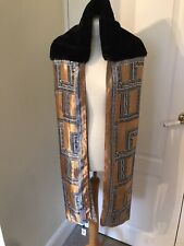 Gold& Black Faux Fur Stole Wrap SHRUG WRAP By CARPISA Nwtg